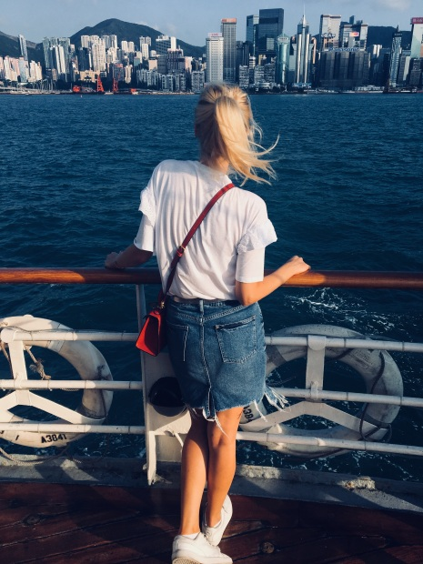 beauty, blond girl, women fashion, women, star ferry, hong kong,