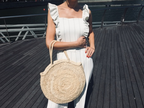 straw bag, summer, spring fashion, what to wear, current trends,