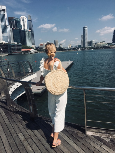be more stylish, trends, style, style blogger, holiday outfit, ss19, straw bag, singapore,